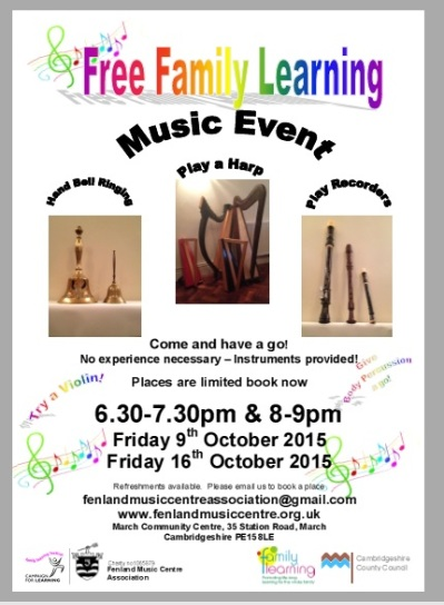 Family Learning Event October 2015 on 9th and 16th