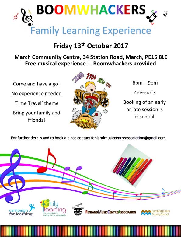Boomwhackers Family Learning Experience flyer