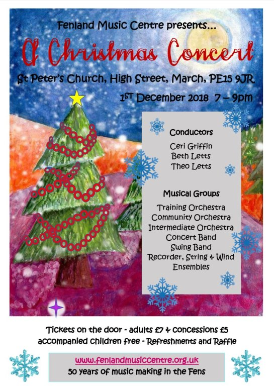 A Christmas Concert, 1st December 2018 7-9pm