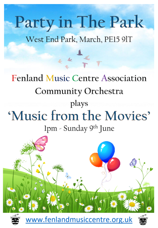 Party in the Park, Music from the Movies - 1pm Sunday 9th June